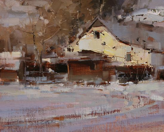 The Return by Tibor Nagy Oil ~ 10 x 12