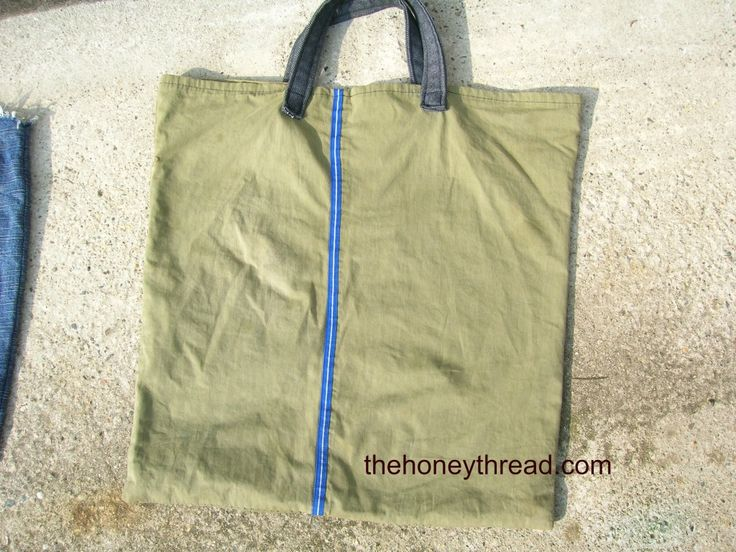 shopper bag made from old pants
