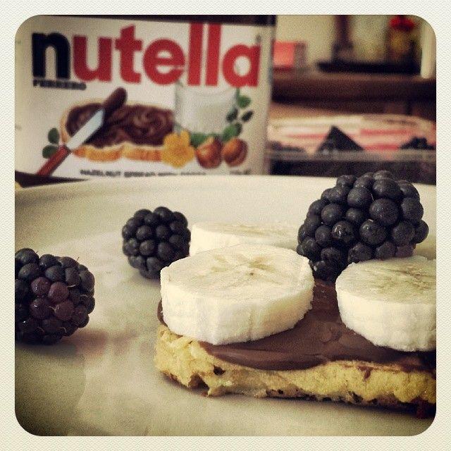 A Berry-Banana Nutella snack. Yum!
