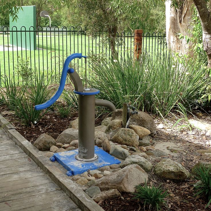 This little pump is loved fiercely by kids around Australia. To us grown folk, it's not much, but to the kids...it's the magic pump, the source of all their muddy needs!! #WaterPump #NaturePlay #BlazeBlue #WaterPlay #Playground #sustainable #educational #CauseAndEffect