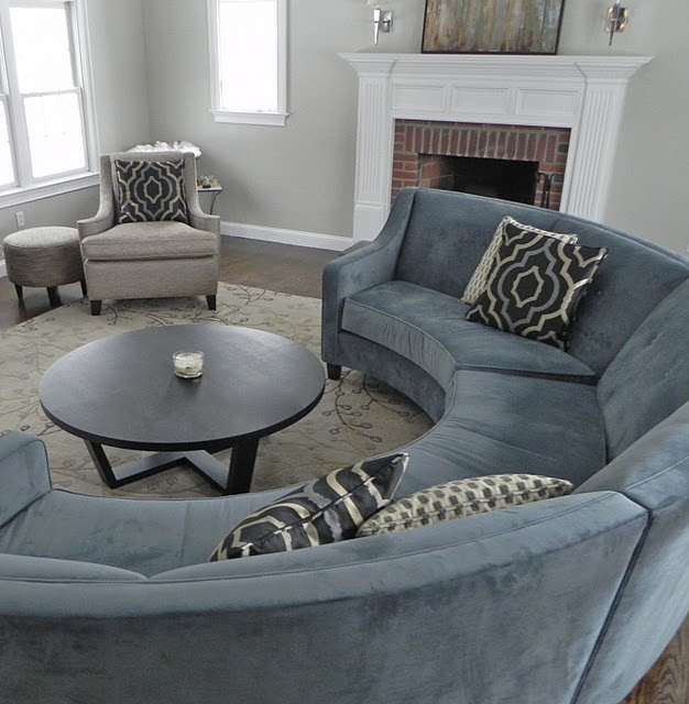 love the round sofa