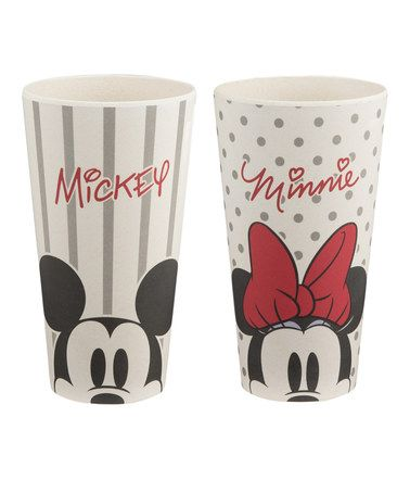 Loving this Disney Mickey & Minnie Mouse 24-Oz. Tumbler - Set of Two on #zulily! #zulilyfinds