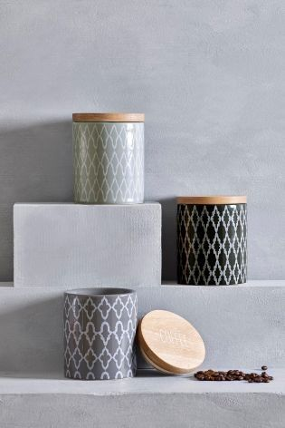 Storage jars PERFECT for the geo print lover. Store anything from tea to biscuits in these quirky additions to your kitchen.