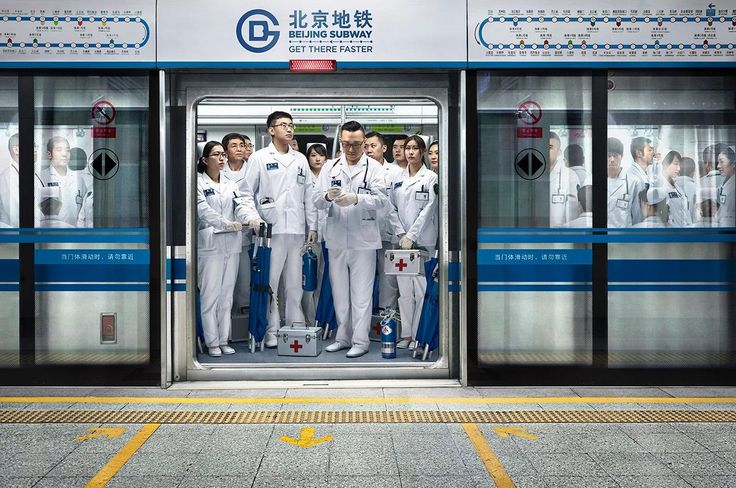 Beijing Subway: Firemen | by Grey, Beijing, 2015