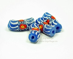 Hand Painted, Fair Trade, Recycled Glass Beads from the Krobo Tribe in Ghana $3.75