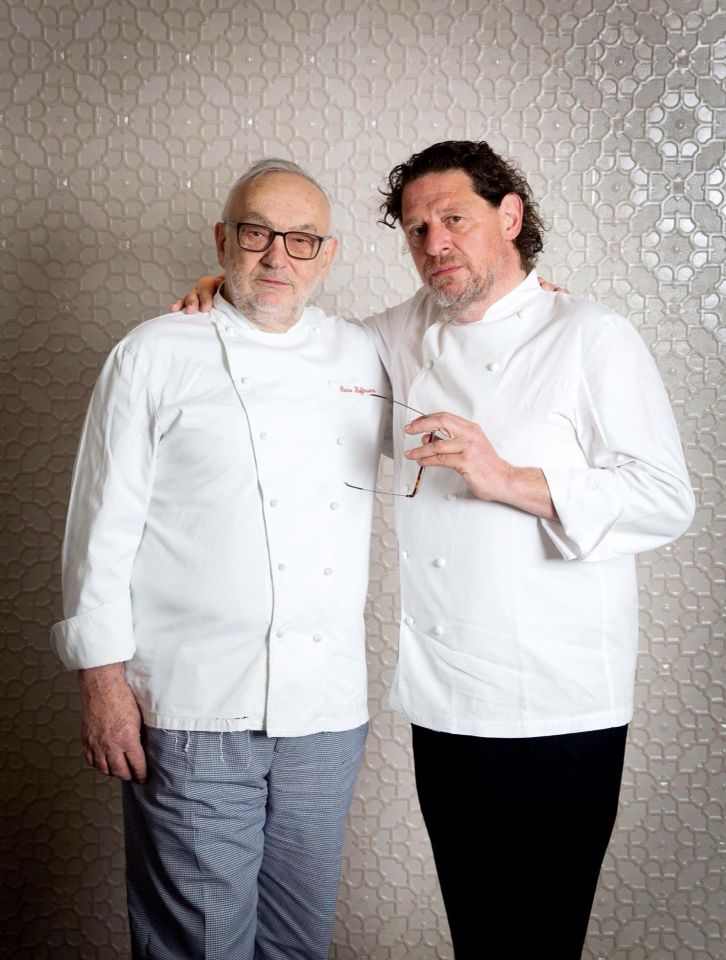 Chef Marco Pierre White and Chef Pierre Koffmann , London