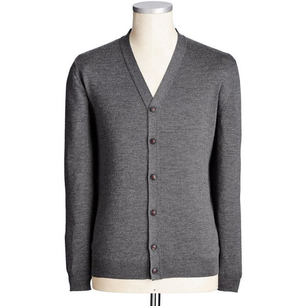 Cashmere & Silk Blend Cardigan ($1,315) ❤ liked on Polyvore featuring men's fashion, men's clothing, men's sweaters, mens cardigan sweater, mens cashmere cardigan sweater and mens cashmere sweaters