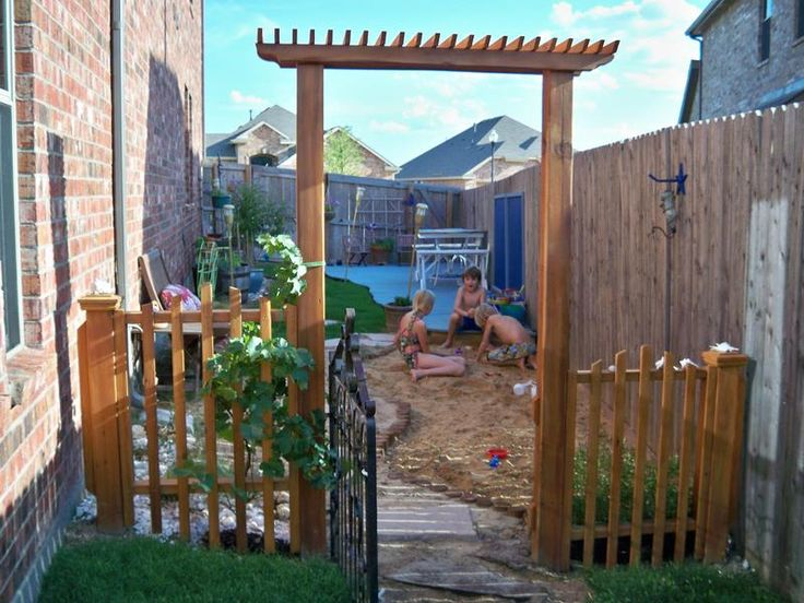 sideyard play area!!! Def next outdoor project,  Maybe I'll take donations at alex's birthday! Lol