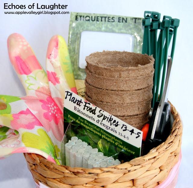 gardening gift basket free printable tag