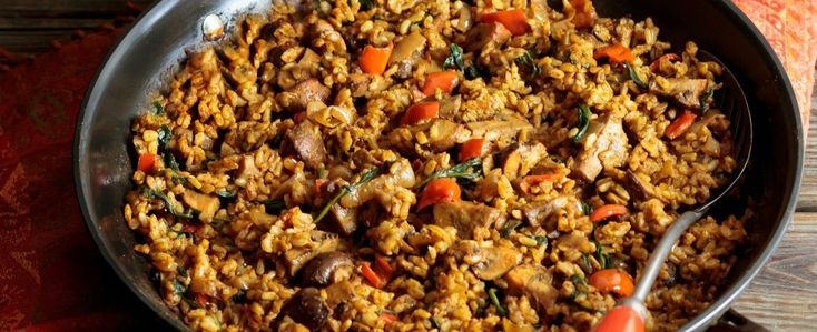 Curry Fried Rice with Mushrooms via @happy_foodista