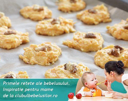 Biscuiti cu banane pentru bebelusi de la 8-10 luni