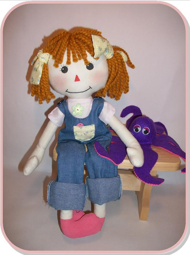 Free Fabric Doll Patterns   Sew Cute Patterns: Rag Doll Sewing Pattern: Rag Doll Olivia and the ...