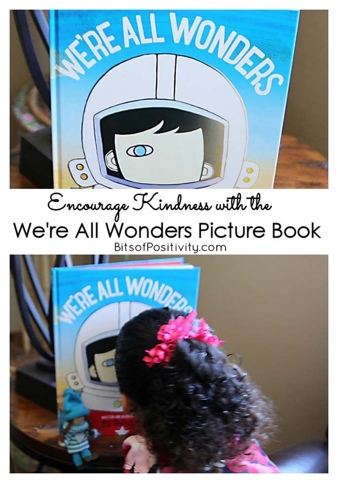 Encouraging kindness with the We're All Wonders picture book by R.J. Palacio and the Kindness Elves.