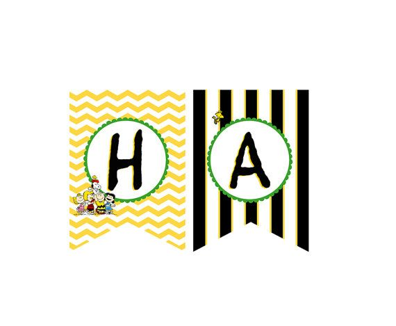 Charlie Brown/ Peanuts/ Snoopy Custom/ Personalized Printable Party Banner