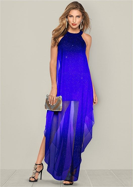 6a1619fc Ombre glitter long dress | Products | Dresses, Fashion dresses ...