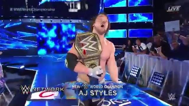 AJ Styles DEFEATS Dean Ambrose for the WWE World Championship at WWE Backlash!!!...