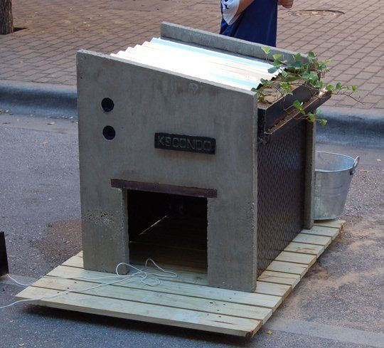 Over the weekend, four- and two-legged patrons enjoyed the Barkitecture event in downtown Austin, which raised money for local animal rescues, and the creative doghouse designs had everyone barking. They showcased green roofs, reclaimed materials, and more. Here's what one architect had to say, plus more pics after the jump...