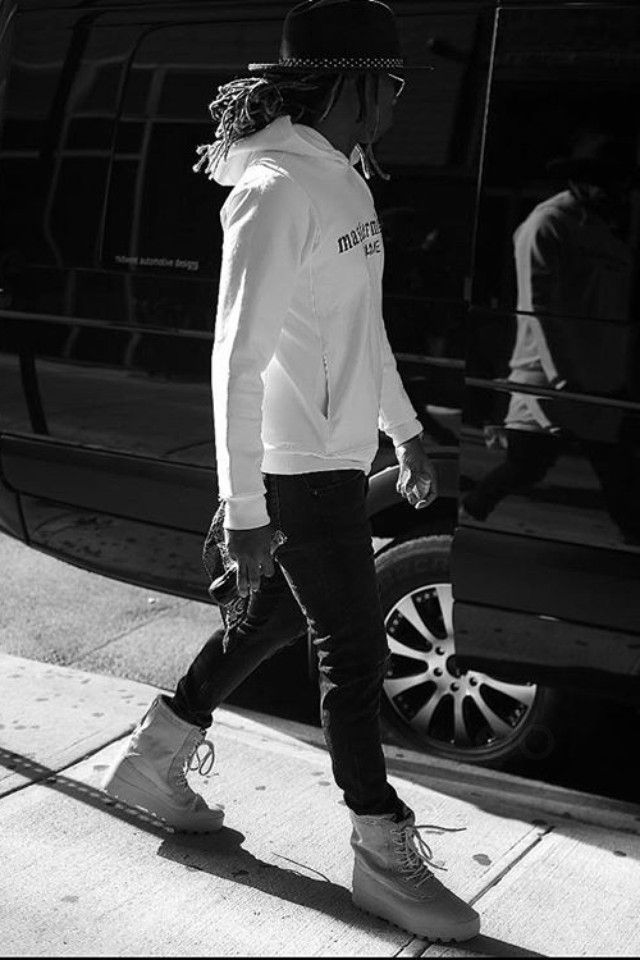 on sale c1e73 72ba3 ... future (nayvadius demun wilburn) wearing adidas yeezy 950 season 1 boot  . ...