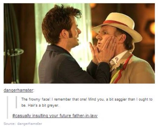 David Tennant and Peter Davison.