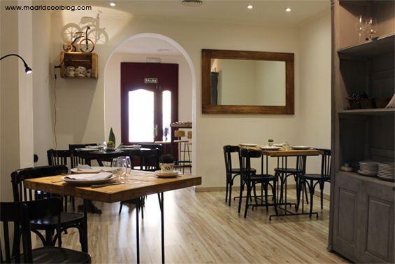 Decoración del restaurante Triciclo. Foto de www.madridcoolblog.com