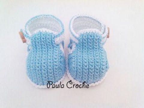 Botinha de Bebê em Crochê Babadinhos - Professora Simone - YouTube
