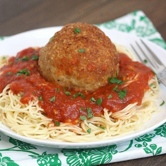 Chicken Meatballs, Meatballs Recipes, Parm Meatballs, Cheesy Chicken ...