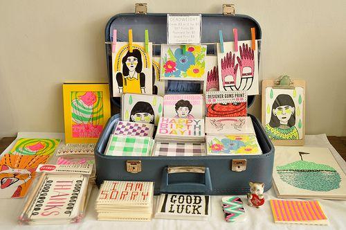 Vintage Suitcase Display