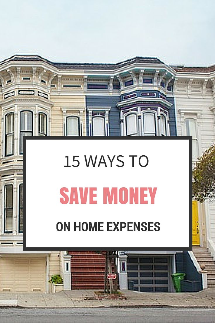 15 Ways to save money on home expenses - cut your costs using all these ways and save yourself heaps every year