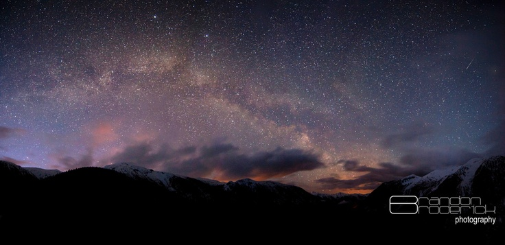 The Milky Way as seen from Shames Mountain near Terrace, BC