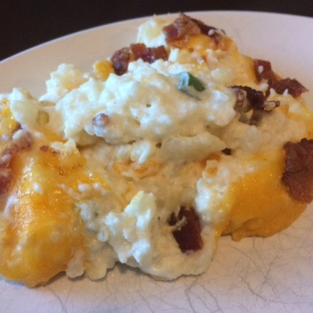 Keto Twice Baked Cauliflower Casserole Recipe