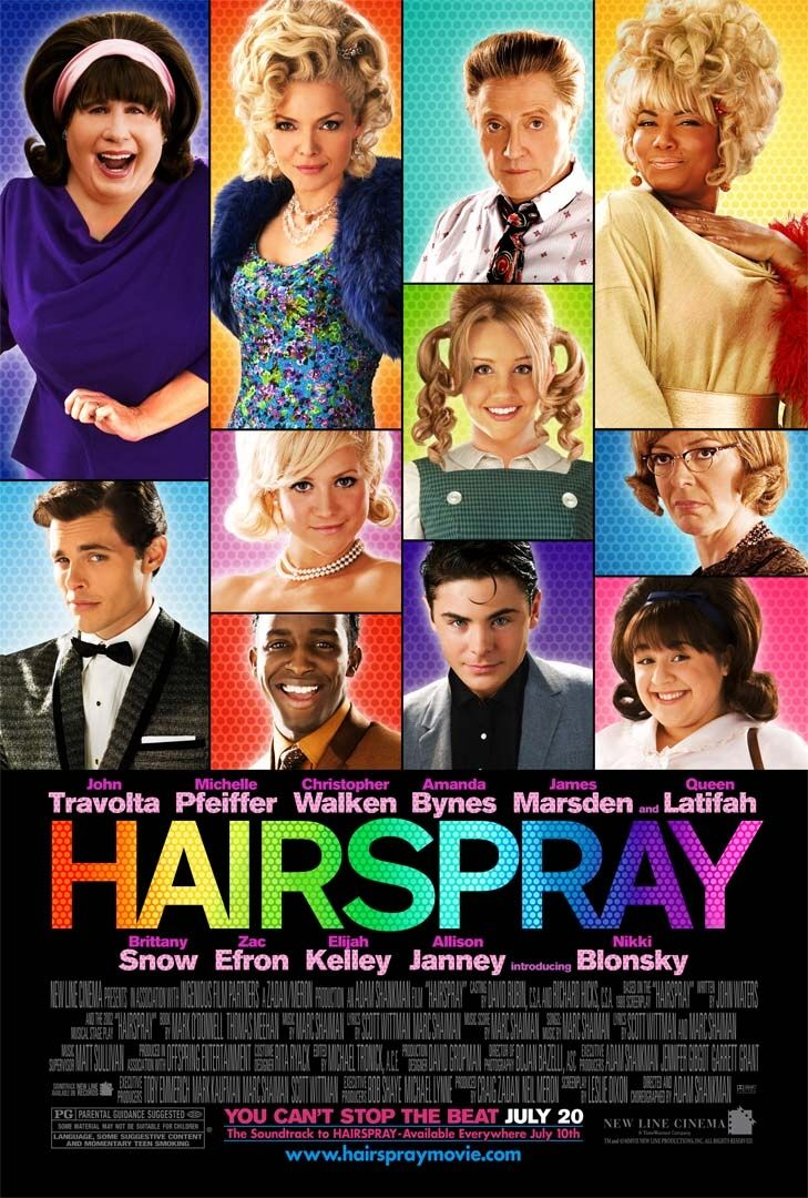 Hairspray - one of those feel good movie but everytime i see John's scene, i don't feel that good already.