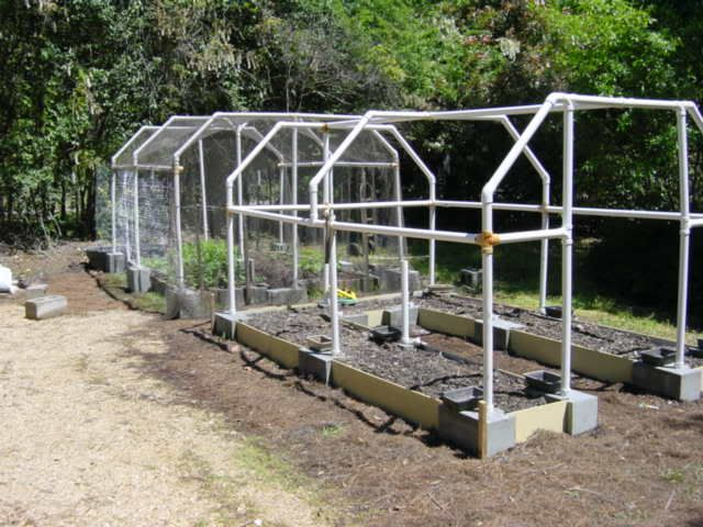Great way to frame a greenhouse using pvc pipe Granite a frame plans