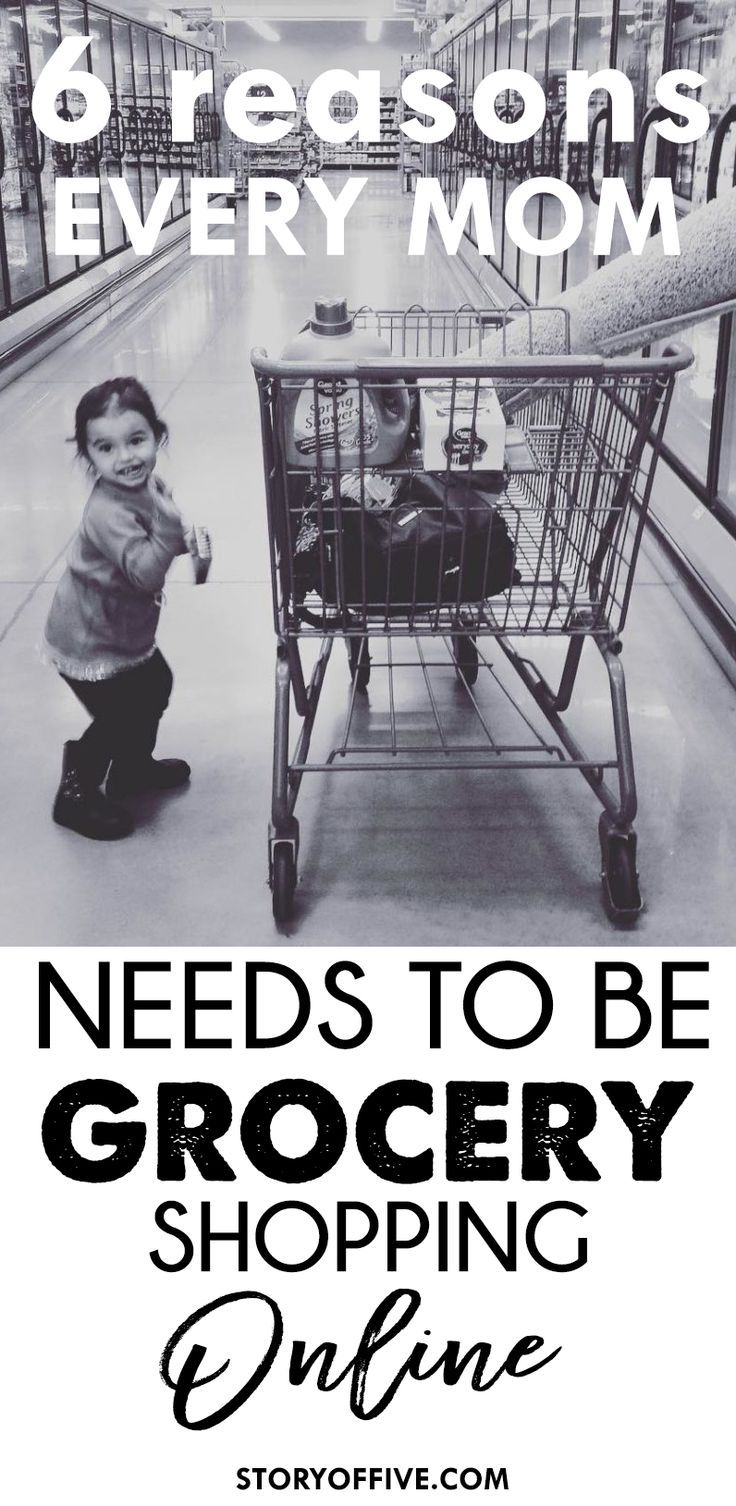 6 Reasons Every Mom Needs To Be Grocery Shopping Online. Click to read or pin and save for later. #groceryhero #ad