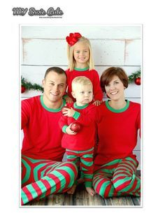 Matching Christmas Pajamas for Family in Adult by MySuzieCute
