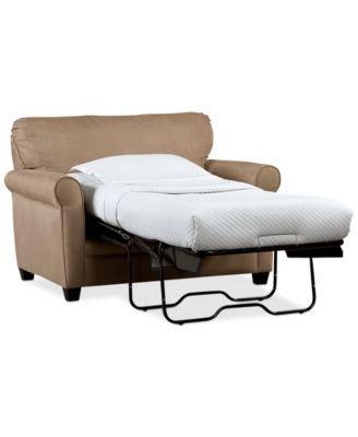 Kaleigh Fabric Twin Sleeper Chair Bed | macys.com