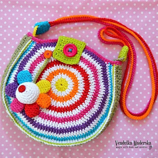 cartera mil colores al crochet