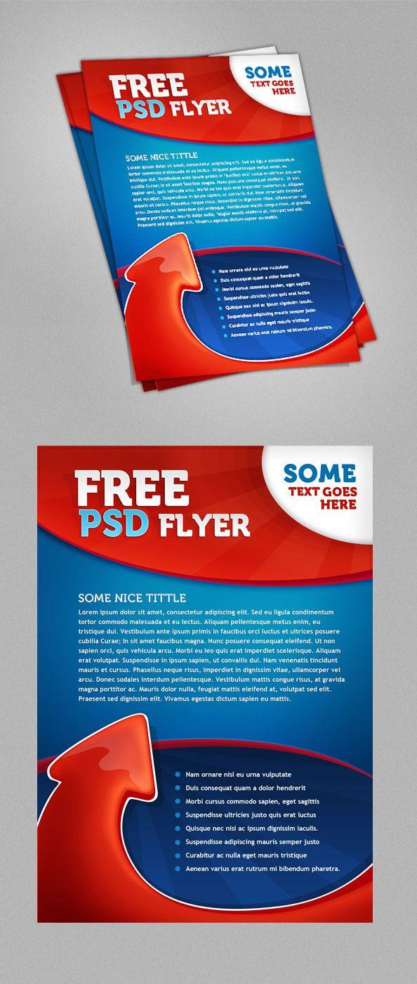 Free psd flyer print template psd print templates pinterest for Pinterest template psd