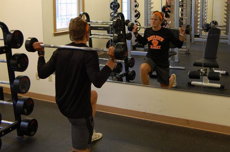 The WVWC Wellness Center has a weight room with bench press, Max Racks, and free weights.