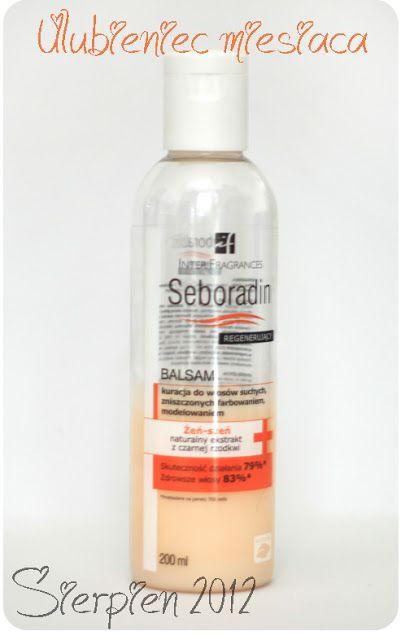 Jak dbać o długie włosy?: Ulubieniec miesiąca - Sierpień 2012: Balsam regenerujący z Żeń-szeniem, Seboradin