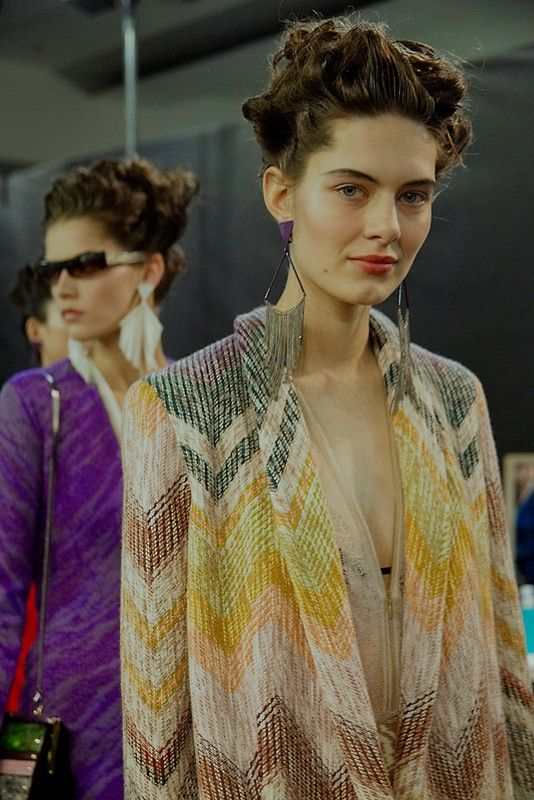 Missoni AW15, Womenswear, Dazed backstage, Milan