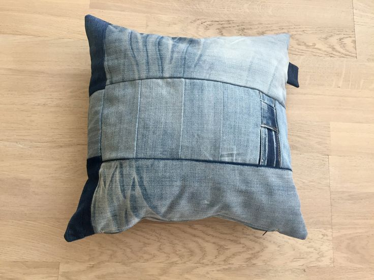 Decorative cushion pillow case,upcycled jeans,recycled denim,repurposed materials,sitting cushion,pillow by denimize on Etsy
