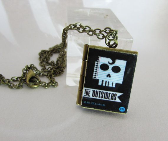The outsiders  Vintage BookLocket Pendant with an by Freaklikemee