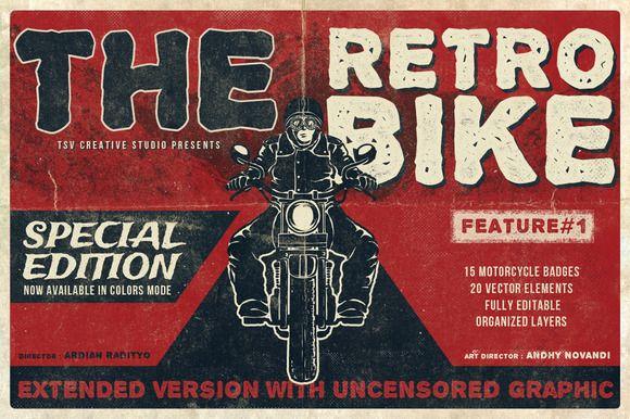 Check out The Retro Bike + 20 Bonus by TSV Creative on Creative Market