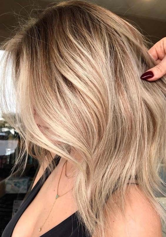 Perfect Honey Blonde Hair Colors With Dark Roots In 2018 Stylesmod Honey Blonde Hair Color Honey Blonde Hair Dark Roots Blonde Hair
