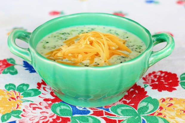 Creamy Broccoli Soup 1/2 cup chopped onion 4 T butter 8 oz ...