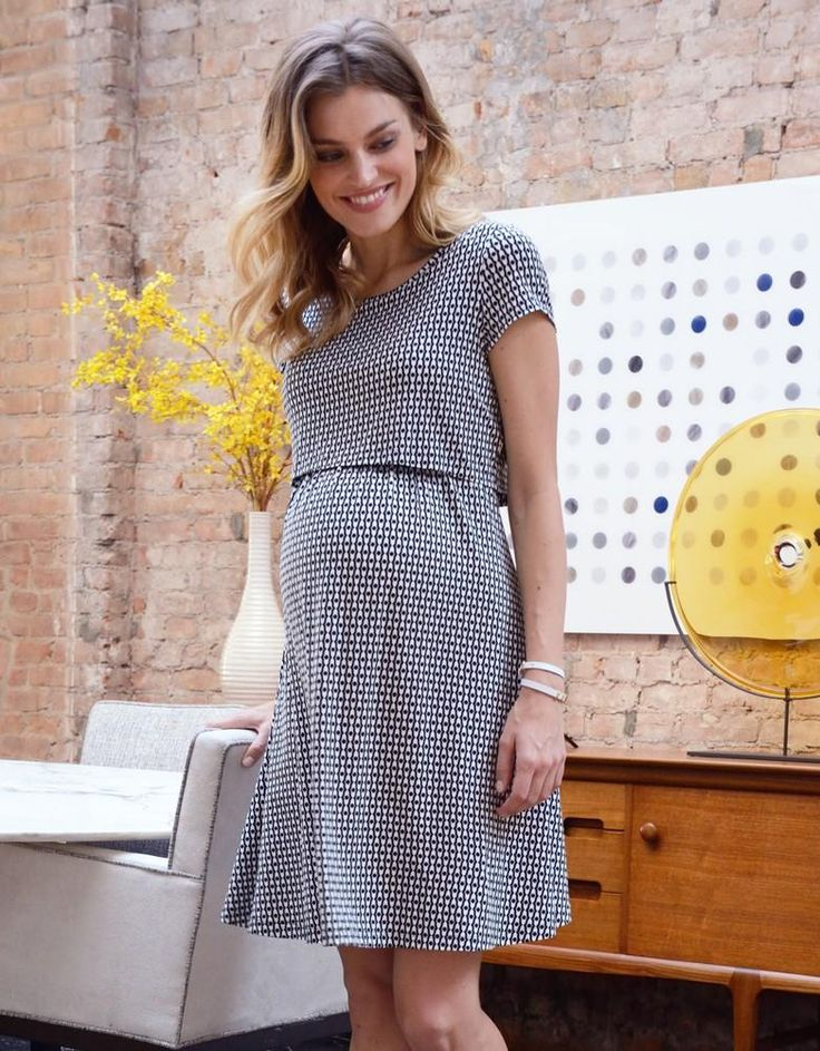 Double Layer Maternity & Nursing Dress | Seraphine | Polka dot art | Dresses for breastfeeding | Maternity fashion