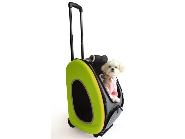 #InnoPet® #Hundetrolley 4 in 1 lime. Dieser limefarbene Hundetrolley 4 in 1 von Innopet ist bis 6 kg belastbar. Der Trolley ist nutzbar als Trage- und Schultertasche, Trolley, Rucksack oder PKW-Sitz.