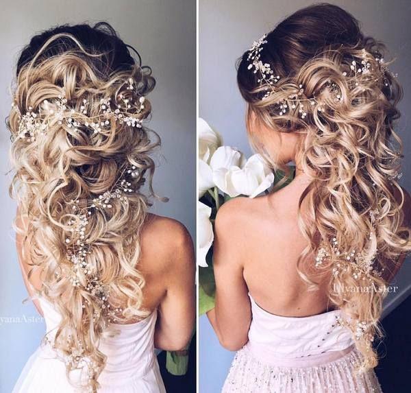Ulyana Aster Romantic Long Bridal Wedding Hairstyles_27 ❤ See more: http://www.deerpearlflowers.com/romantic-bridal-wedding-hairstyles/