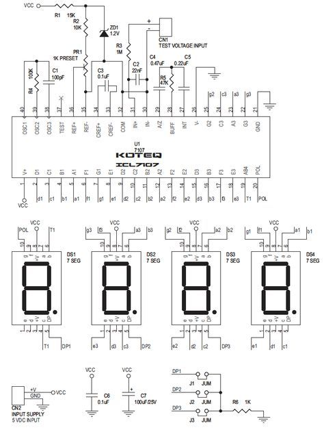 Digital Panel Meter performs digital processing on or conversion and display of voltages, currents, other analog signals, and pulse signals. This project is based on popular ICL 7107 IC, which is analog to digital converter and has been designed to drive 7 segment LED display. The ICL7107 is high performance, low power, 3, 1/3 digitRead More