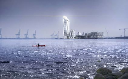 High-rise proposal gives the people of Aarhus something to talk about :: Henning Larsen Architects